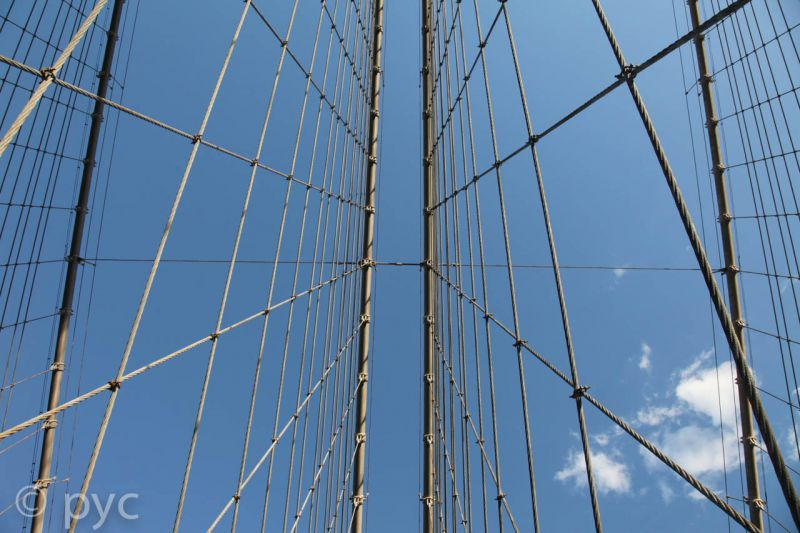 The sky above Brooklyn Bridge 2